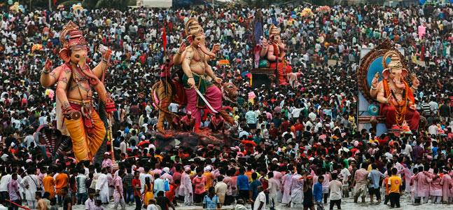 Occurring each year between August and September, the 10-day Hindu Festival is celebrated across India.