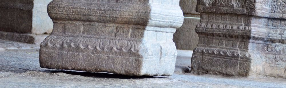 Mysterious hanging pillar at  Lepakshi Temple