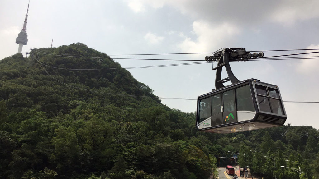 Cable car up Mount Namsan Seoul