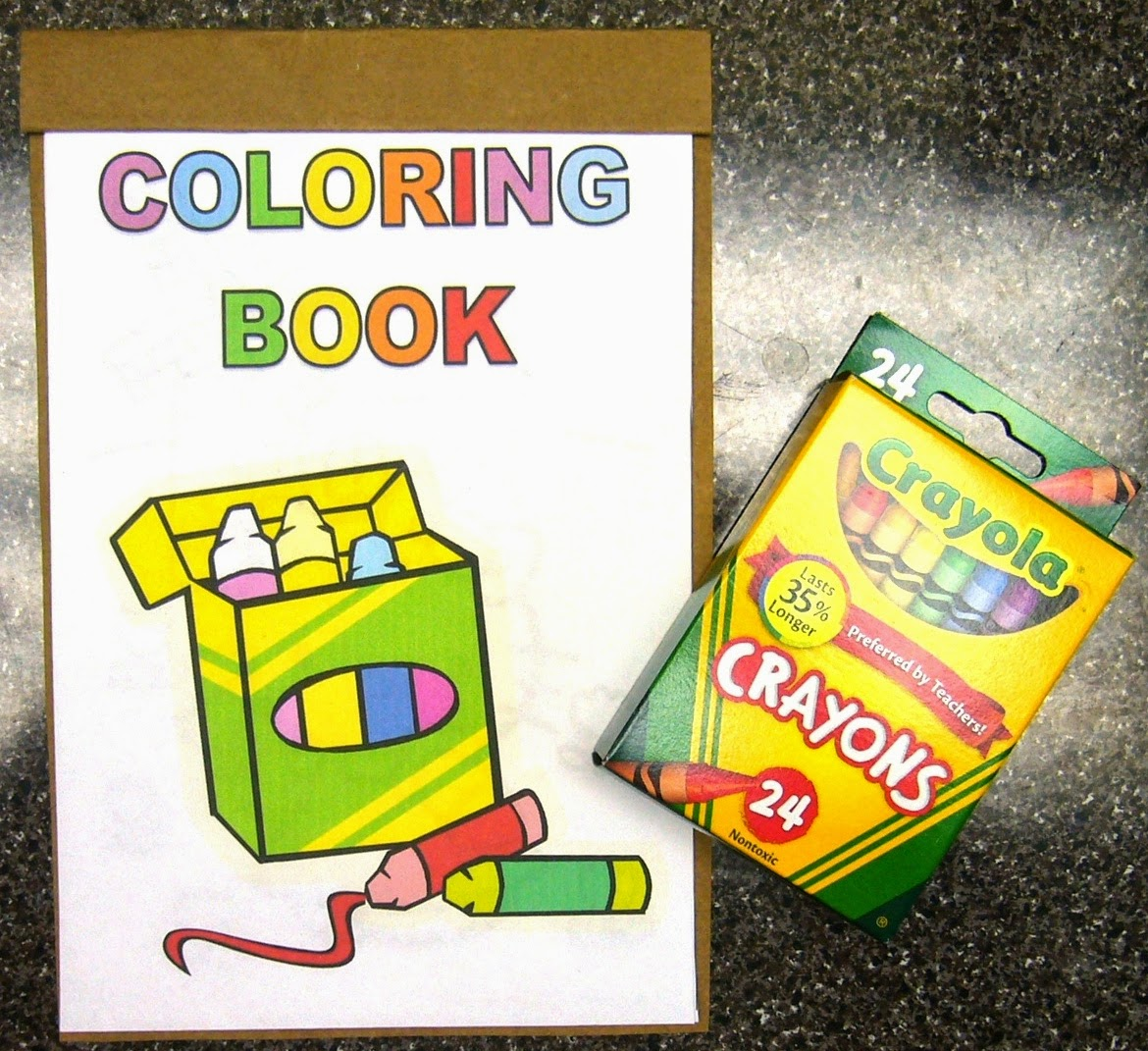 CRAYONS KIT WITH A COLORING BOOK