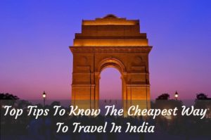 cheapest way to travel in India