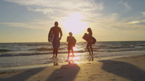 family surfing vacations in USA