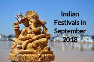 Indian Festivals in September 2018