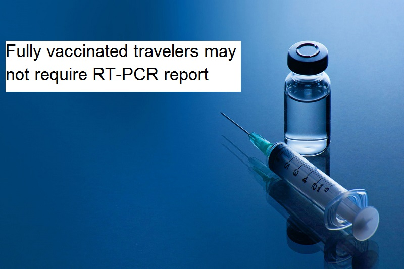 Fully vaccinated travelers may not require RT-PCR report for domestic air travel